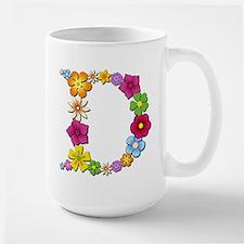 D Bright Flowers Mugs