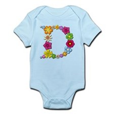 D Bright Flowers Body Suit