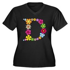 D Bright Flowers Plus Size T-Shirt
