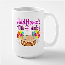 CELEBRATE 40 Mug