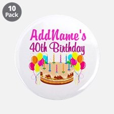 "CELEBRATE 40 3.5"" Button (10 pack)"