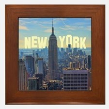 Empire State Building from the Top of  Framed Tile