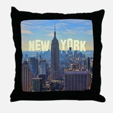 Empire State Building from the Top of Throw Pillow
