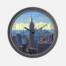 Empire State Building from the Top of t Wall Clock