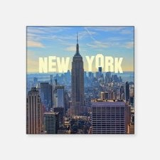 "Empire State Building from  Square Sticker 3"" x 3"""