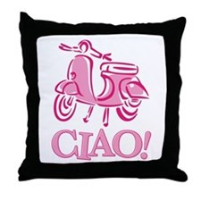 Ciao Scooter Throw Pillow