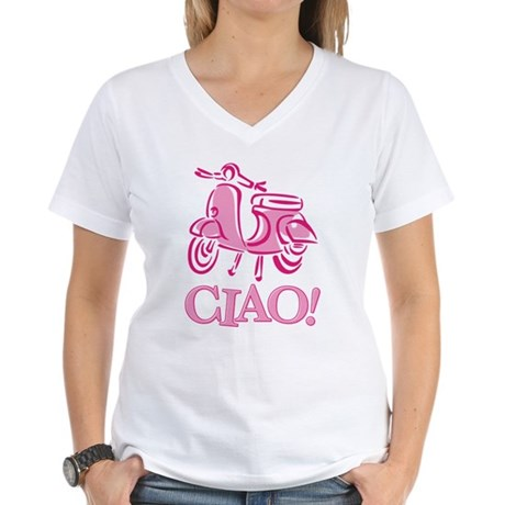 Ciao Scooter Women's V-Neck T-Shirt