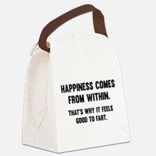 Happiness Comes From Within Canvas Lunch Bag