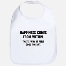 Happiness Comes From Within Bib
