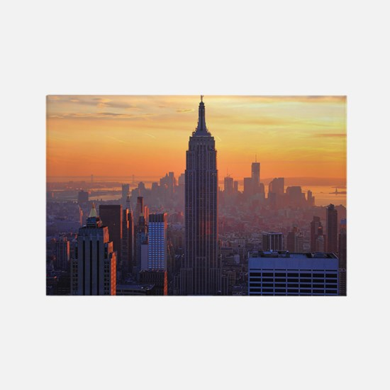 Empire State Building, NYC Skylin Rectangle Magnet