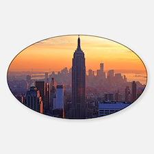 Empire State Building, NYC Skyline, Sticker (Oval)