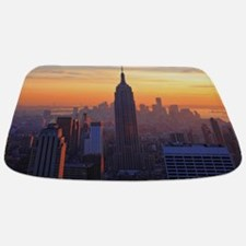 Empire State Building, NYC Skyline, Orange Bathmat