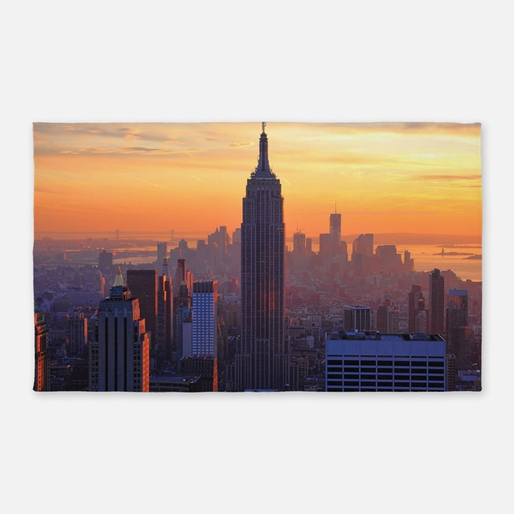 Empire State Building, NYC Skyline, 3'x5' Area Rug