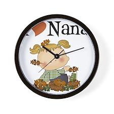 Autumn I Love Nana Wall Clock