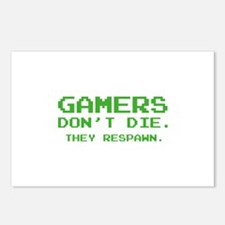 Gamers Don't Die. They Respawn. Postcards (Package