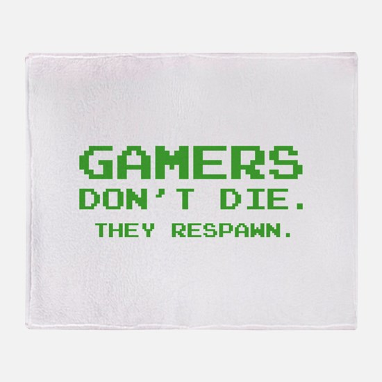Gamers Don't Die. They Respawn. Stadium Blanket