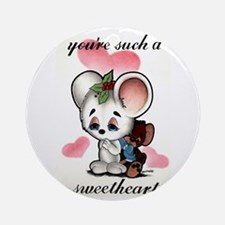 Xmas Mouse Ornament (Round)
