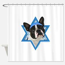 Hanukkah Star of David - Boston Shower Curtain