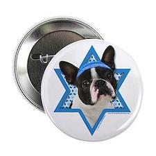 "Hanukkah Star of David - Boston 2.25"" Button"