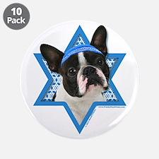 "Hanukkah Star of David - Boston 3.5"" Button (10 pa"