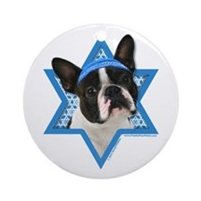 Hanukkah Star of David - Boston Ornament (Round)