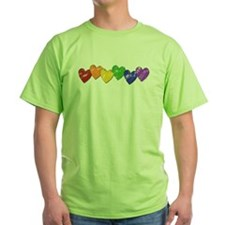 Vintage Gay Pride Hearts T-Shirt