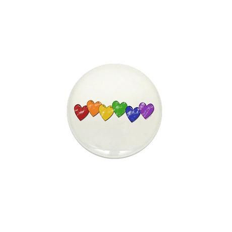 Vintage Gay Pride Hearts Mini Button
