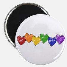 Vintage Gay Pride Hearts Magnet