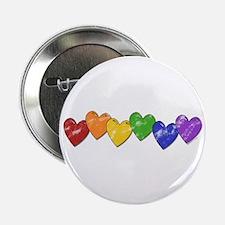 Vintage Gay Pride Hearts Button