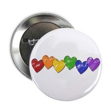 "Vintage Gay Pride Hearts 2.25"" Button (10 pack)"