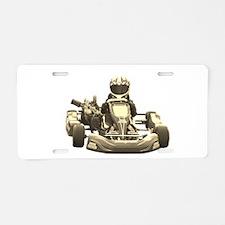 Go Kart Antiqued Aluminum License Plate