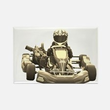 Go Kart Antiqued Magnets