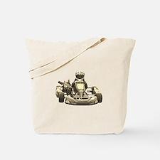 Go Kart Antiqued Tote Bag