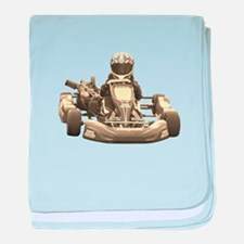 Go Kart Antiqued baby blanket