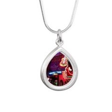 Downtown Nashville Silver Teardrop Necklace