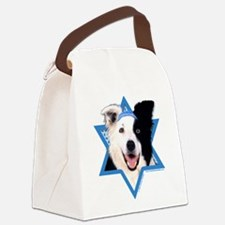 Hanukkah Star of David - Border Canvas Lunch Bag