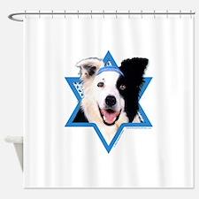 Hanukkah Star of David - Border Shower Curtain