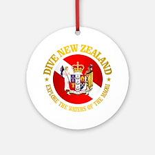 New Zealand Round Ornament