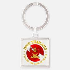 Thailand Square Keychain
