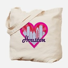 Houston Skyline Sunburst Heart Tote Bag