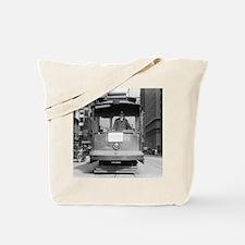 Brooklyn Bridge Trolley Tote Bag