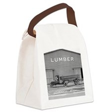Early Ford Tractor Trailer Canvas Lunch Bag