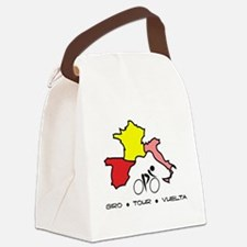 Grand Tour Maps Canvas Lunch Bag