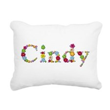 Cindy Bright Flowers Rectangular Canvas Pillow