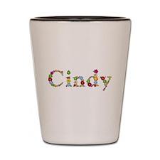 Cindy Bright Flowers Shot Glass