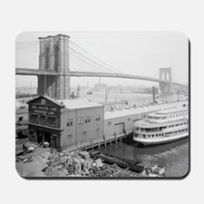 Brooklyn Bridge and Docks Mousepad