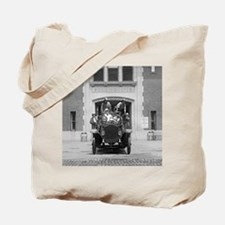 Fire Engine Crew at Firehouse Tote Bag