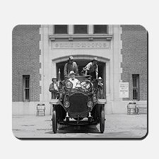 Fire Engine Crew at Firehouse Mousepad