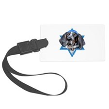 Hanukkah Star of David - Coonhound Luggage Tag