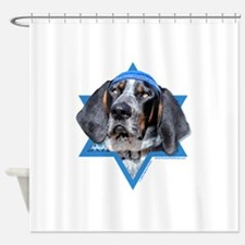 Hanukkah Star of David - Coonhound Shower Curtain